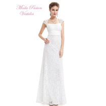 Vestido Novia Encaje Bretel Ancho Talle Grande Moda Pasión