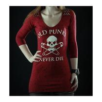 No Mercy For All: Vestido Camiseta Fp Alfileres Old Punks