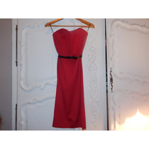 Vestido Rojo Las Oreiro Simple Y Elegante!!