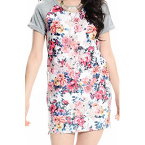 Vestido Remeron Acolchado Con Flores Verano Nuevo Importado