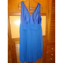 Vestido De Fiesta Medio Color Azul Francia