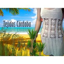 Cubre Malla Vestido Tejido Crochet Salida De Baño 2016