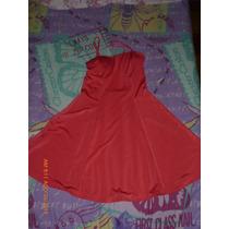 Vestido De Moda En Color Salmon Talle S.m Muy Economico