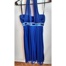 Vestido Azul Con Lentejuelas!!! Cumples, Fiestas!! Divino!!!