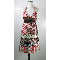 Divino Vestido Solero Satinado Colores Fuertes-hermoso!