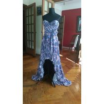 Vestido Irregular De Gasa Estampada By Monica Reich