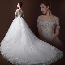 Vestido De Novia Nuevo 2016 C/cola 1mts(directo China)#1163