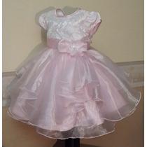 Vestido Importado Nena Bautismo Boda Fieta T3 Usa