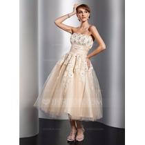 Vestido Fiesta Novia Straples De Tul Corte Princesa