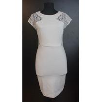 Divino Vestido Blanco Zara Entallado S Oferta