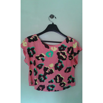 Remera Pupera Animal Print Color Fucsia De Color Talle M