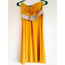 Vestido Strapless Color Mostaza!!!