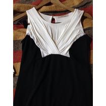 Increíble Vestido De Modal Y Lycra Blanco Y Negro