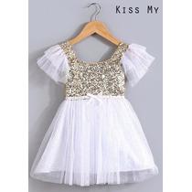 Vestido De Niñas Importados- Bautismo - Fiesta - Casamiento