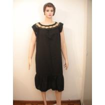 Hermosos Vestidos De Bambula Con Crochet (negros)