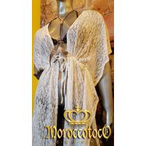 Vestido Encaje Bata Kimono Spolverino