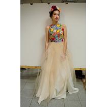 Vestido De Diseño Bordado