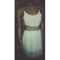 Vestido Blanco Corto De Encaje Mujer Sexy Fiesta Noche Lindo