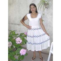 Vestido Retro Bordado A Mano Blanco Años 50 Diseño Exclusivo