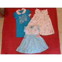 Oferta! Combo De 3 Vestidos Para Nena Talle 2