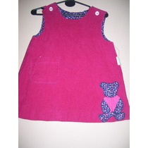Vestido Jumper Niña Microcorderoy Talle 2-3 Años