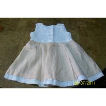 Vestido Blanco Y Salmon. Talle 7 (marca Cheeky)