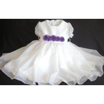Vestido Bautismo De Beba Primer Añito
