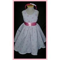 Vestido De Fiesta O Cortejo Para Beba En Pique !!!!!!!