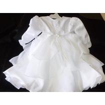Vestido Fiesta Nena 9 M A 2 Años Aprox. Bautismo, Cortejos,