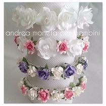 Vincha Flor Bebe Nena Fiesta Vestido Bautismo Moneta Rosa