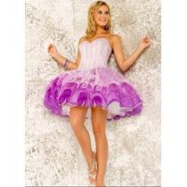 Exelente Vestido De Fiesta Ideal 15 Años Bordado