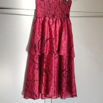 Vestido De Fiesta Strapless Hindu Talle M 100% Seda