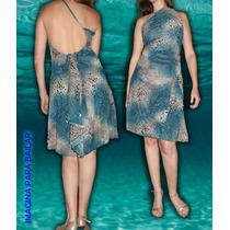 Vestido De Espalda Descubierta Diseño Independiente