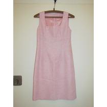 Vestido De Novia Para Civil, Color Rosa, Con Saco Manga L