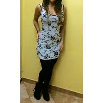 Vestido Corto- Bordado-marca Bebe Importado Usa