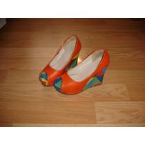 Zapatos Dama Varios Colores Con Plataforma Nro 38