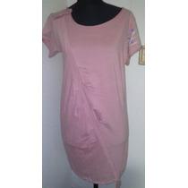 Vestido Rosa Viejo Talle 2 - Medium. (marca Lupe) $100