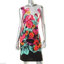 Vestido Estampado Flores Adrianna Papell - Verano 2015