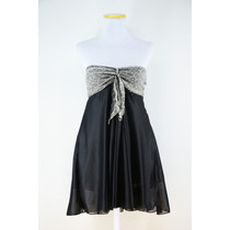 Vestido Strapless Primavera Con Detalle En Delantera 022008