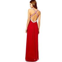 Vestido Largo De Fiesta Noche Con Strass, Brishka, V-0002