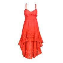 Vestido Broderie Corto Falda Irregular, Brishka, M-0041