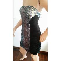 Vestido Drapeado Con Paillets De Lentejuelas Muy Original