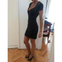 Vestido Las Oreiro Corto Negro S