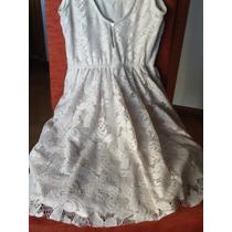 Vestido De Encaje Zara Forrado Novia Civil