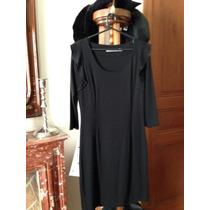 Vestido Negro De Mariana Marquez De Algodon Con Lycra