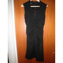 Vendo Vestido Negro En Poliester Marca Mng
