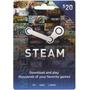 Tarjeta Steam Wallet De 20 Dolares. Para Juegos Steam De Pc.