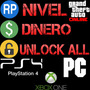 Dinero, Nivel, Unlock All - Gta V (ps4, Xbox One Y Pc)