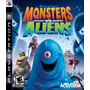 Juego Playstation Original Ps3 Monster Vs Aliens