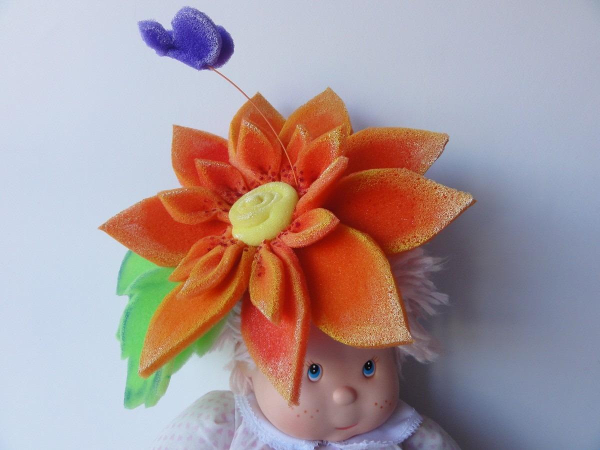 Flores de goma on manualidades sombreros flores de goma - Flore de goma eva ...